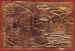 ** CARTE  CHEF  INDIEN  -  U. S. A. ** - Native Americans