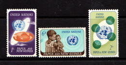 PAPUA  NEW  GUINEA    1965    20th  Anniv  Of  UNO    Set  Of  3    MNH - Papua New Guinea