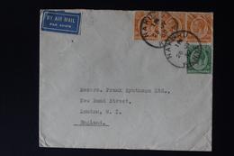 KENYA & UGANDA : AIRMAIL COVER NAKURU TO LONDON 26-7-1932 SG 78 + 83 - Kenya & Uganda