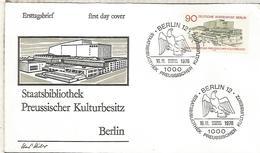 ALEMANIA FDC 1978 BERLIN BIBLIOTECA LIBRARY - Otros