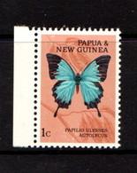 PAPUA  NEW  GUINEA    1966    Butterflies    1c  Papilio  Ulysses    MNH - Papua New Guinea