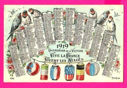 CPA  (Réf: Z2318) FANTAISIES AUTRES) Calendrier De La Victoire 1919 VIVENT LES ALLIÉS - Fantasia