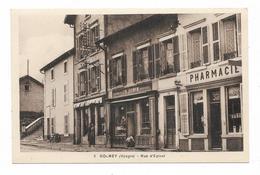 CPA 88 GOLBEY Rue D' EPINAL Pharmacie Boulangerie Pâtisserie BONVIN - Golbey