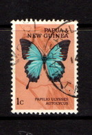 PAPUA  NEW  GUINEA    1966    Butterflies    1c  Papilio  Ulysses    USED - Papua New Guinea