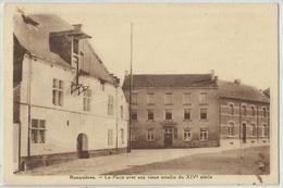 RONQUIERES - La Place Avec Son Vieux Moulin Du XIVè Siècle 1941 (Braine-Le-Comte) - Braine-le-Comte