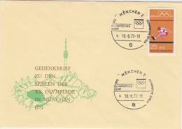 Germany Cover 1972 München Olympic Games - München Olympisches Dorf (G96-32) - Summer 1972: Munich