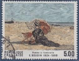 = Femme à L'Ombrelle D'Eugène Boudin, Série Artistique, 5f00 N°2474 Oblitéré - France