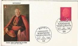 ALEMANIA FDC BERLIN 1966 CARDENAL VON GALEN RELIGION - Cristianismo