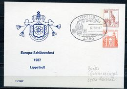 "Germany BERLIN 1987 Privatganzsache Schützenfest Mi.Nr.PP??? Mit SST""Lippstadt-Europa Schützenfest""1 Beleg - Waffenschiessen"