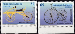 Andorra, Sp., 1997, 251/52, Historische Fahrräder.  MNH **, - Unused Stamps