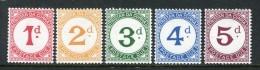 Tristan Da Cunha 1957 Postage Dues Set MNH - Tristan Da Cunha