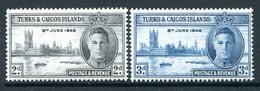 Turks And Caicos Islands 1946 KGVI Victory Set MNH (SG 206-07) - Turks And Caicos