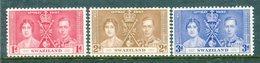 Swaziland 1937 KGVI Coronation Set MNH (SG 25-27) - Swaziland (...-1967)