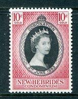 New Hebrides 1953 QEII Coronation MNH (SG 79) - English Legend