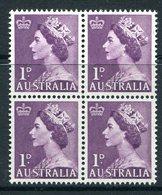 Australia 1953-57 QEII Definitives - 1d Purple Block Of 4 MNH (SG 261) - 1952-65 Elizabeth II : Pre-Decimals