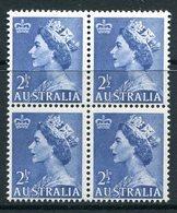 Australia 1953-57 QEII Definitives - 2½d Blues Block Of 4 MNH (SG 261a) - Ongebruikt