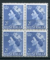 Australia 1953-57 QEII Definitives - 2½d Blues Block Of 4 MNH (SG 261a) - Mint Stamps