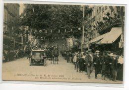 12 MILLAU  Fetes 16-17-18 Octobre 1909  Auto Ministerielle   Arrivant Place Du Mandarous No 5    D10 2019 - Millau