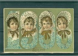 Relief - Gaufrée - Embossed - Prage - Année 1906 - Petite Fente En Bas - Précurseur - Nouvel An