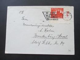 3. Reich 1940 Wiedeeingliederung Eupen Und Malmedy Nr. 749 Eckrandstück!! Stempel Stralsund - Lettres & Documents