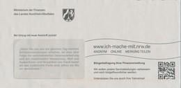 BRD Düsseldorf Ministerium Der Finanzen Des Landes NRW Wappen Pferd QCR-Code Bürgerbefragung - Briefe U. Dokumente