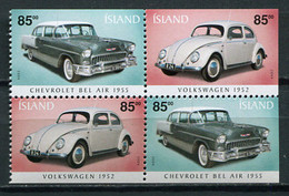 Iceland 2004 Islandia / Cars MNH Coches Autos / Cu3434  18-28 - Coches