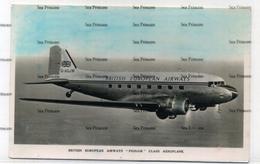 BEA British European Airways Douglas DC3 Pionair G-AGJW Postcard - 1946-....: Era Moderna