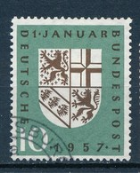 BRD 1957 Mi. 249 Gest. Waapen Saarland Löwe Adler Eingliederung - Briefmarken