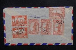 BIRMANIE - Affranchissement Plaisant De Rangoon Sur Enveloppe De La Légation De France Pour La France En 1961 - L 40342 - Myanmar (Birmanie 1948-...)