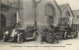 - Dpts Div -ref-AL740- Puy De Dome - Clermont Ferrand - Desaix - Regiments - Depanneurs - Voiture - Moto - Miltaria - - Clermont Ferrand