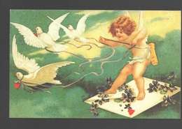 Fantaisie / Fantasy / Fantasie - Angel / Engel / Ange / Cupido - Cartolina D'epoca - Engel