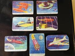 "Lot Of 7 SPACE CARDS - CHYMOS BUBBLE GUM ""AVARUUSARJA"" About 1957 Finland - SCI -FI - UFO - OVNI - SOUCOUPE - Snoepgoed & Koekjes"