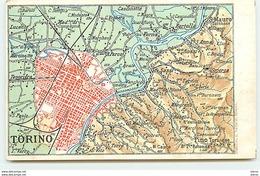 TORINO - Carte Géographique - Italia
