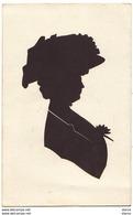 Silhouette D'une Femme Avec Un Chapeau - Silhouettes