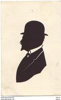 Silhouette D'homme Avec Un Chapeau Melon - Silhouettes