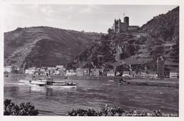 Sankt Goarshausen * Burg Katz, Rhein, Schiffe * Deutschland * AK066 - Loreley