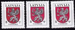 Lettland, 1994/2000, 373,  Freimarken: Wappen. VIDZEME. MNH ** - Lettland