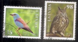 2010 Latvia  Lettonie  Lettland Bird Vogel Oiseau Eagle - Owl Uhu , Green Crow  Rot Buch -- Used (0) - Lettonie