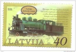 Latvia  - Train - USED Stamp 2010 Y - Lettonie