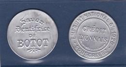 """2 TIMBRES-MONAIES ,""""""""savon Dentifrice De BOTOT"""""""",avec Semeuse 25bleu;et CREDIT LYONNAIS (( Lot 328 )) - Publicités"""