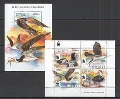 ST232 2015 GUINEE GUINEA WWF FAUNA BIRDS LE BEC-EN-CISEAUX D'AFRIQUE KB+BL MNH - W.W.F.