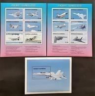 Antigua Barbuda 1998** Mi.Klb.2777-88 + Bl.403. Airplanes, MNH [18;196] - Flugzeuge