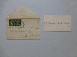 Saumur, Madame Victor BORET, Carte De Visite 1917,  Ref578; PAP06 - Visiting Cards
