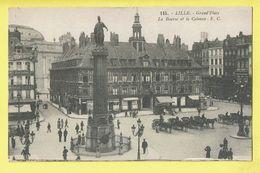 * Lille - Rijsel (Dép 59 - Nord - France) * (E.C., Nr 115) Grand'Place, La Bourse Et La Colonne, Cheval, Animée, Rare - Lille