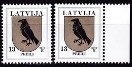 Lettland, 2010, 422 C X, Freimarken: Wappen. Preiļi (Prely). MNH ** - Lettland