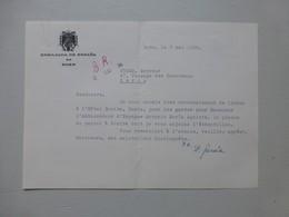 BONN, Ambassade D'ESPAGNE 1958, Lettre Avec Autographe, Plaque Gravée Ambassade  Ref572; PAP06 - Historische Dokumente
