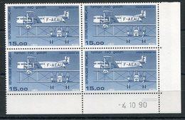 RC 13140 FRANCE PA N° 57b - 15F FARMAN IMPRESSION FINE COIN DATÉ 1990 COTE 50€ NEUF ** TB - Poste Aérienne