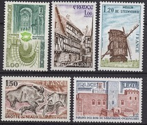 FRANCE  1979 - SERIE Y.T. N° 2040 A 2044 - 5 TP NEUFS** - France