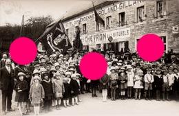 HARZE ( Aywaille ) Manifestation Patriotique Vers 1920 / 25 Roland Gillard Hôtel Des Ardennes  + Chevron - Aywaille