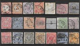 Allemagne (& Confédération Du Nord) Classiques Lot De 21 Tp 1868-1900 O - Germany